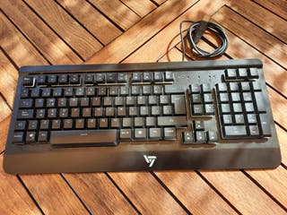 VicTsing Teclado Gaming Español USB, LED Multicolo