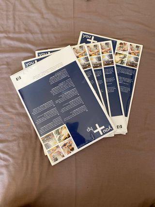 5 paquetes papel fotográfico HP