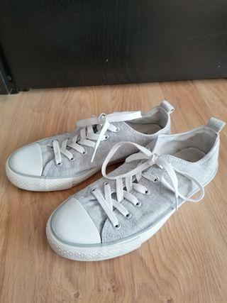 zapatillas primark grises