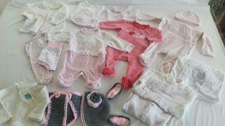 lote ropa bebe niña 0-3meses otoño-invierno