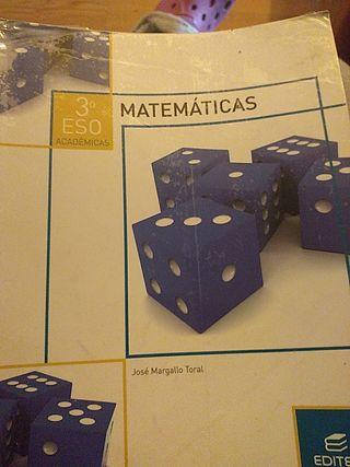 matemáticas de 3 de la ES0