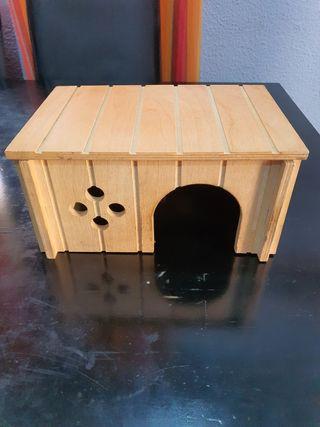 Caseta madera para roedores