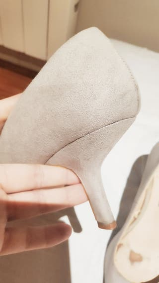 salones Zara Basic grises talla 37