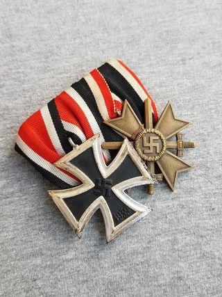 Medalla Militar Pasador doble Cruz de Hierro.