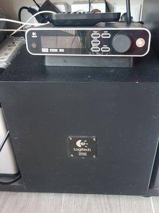 Home cinema Logitech z5450 + adaptador Bluetooth