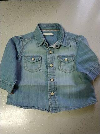 Camisa vaquera niño 6-12 meses Sfera
