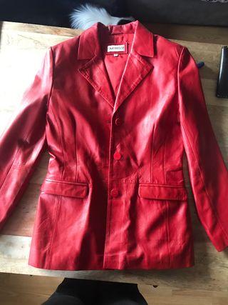 Chaqueta de cuero roja Company&Co