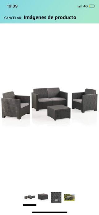 Conjunto muebles de terraza jardin