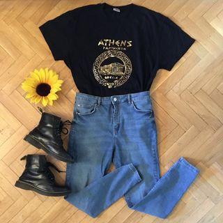 Camiseta vintage souvenir Atenas Grecia brillo