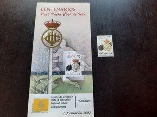 Real Unión Club de Irún Sello Oficial Centenario