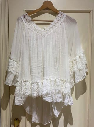 Blusa blanca 100% algodon
