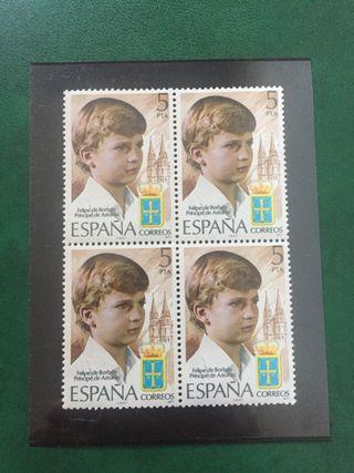 Sello Felipe de Borbón 1977
