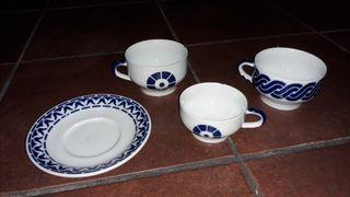 Pack plato y tazas Sargadelos