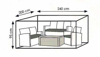 Funda para muebles de jardín