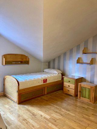 Habitación completa madera maciza