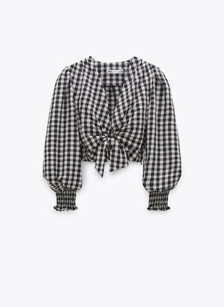 Blusa vichy Zara