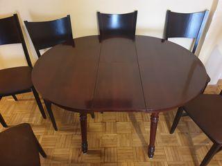 Mesa extensible + 6 sillas