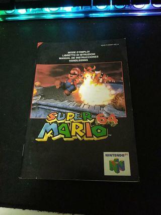 Manual Super Mario 64 Nintendo 64