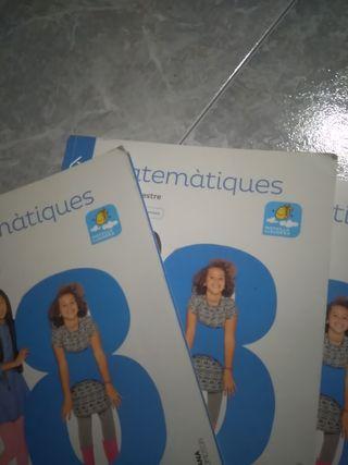 libros de sexto primaria matemáticas 1 2 3 trimest