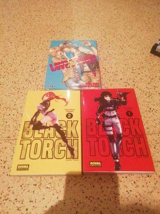 Mangas: Black Torch y Love Stage