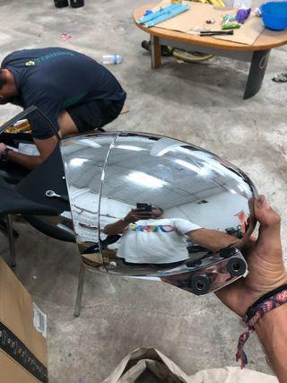 Faro de moto custom