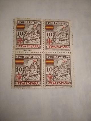 sellos época guerra civil