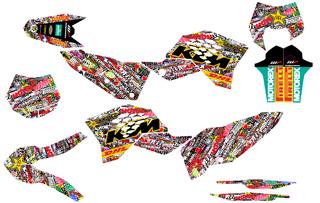 Kit de adhesivos ktm 2008-2011