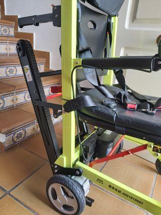 Silla ruedas eléctrica con oruga sube escaleras