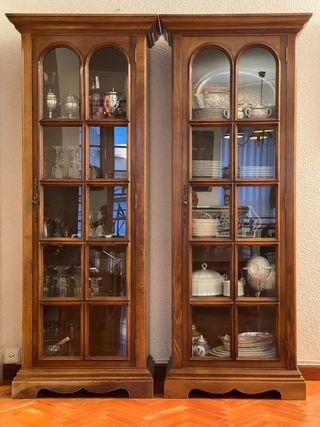 Vitrinas / alacena / mueble bar vintage de madera