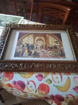 Marco de fotos de madera tallada a mano