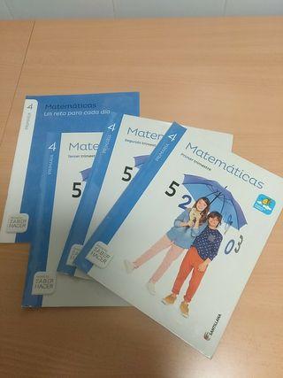 Libro Matemáticas Santillana 4 primaria.