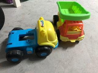 Camiones de plástico 28x20cm