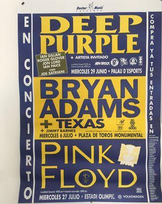Cartel DEEP PURPLE / B.ADAMS / PINK FLOYD