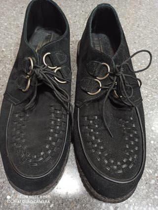 Zapatos creepers en nobuk talla 46