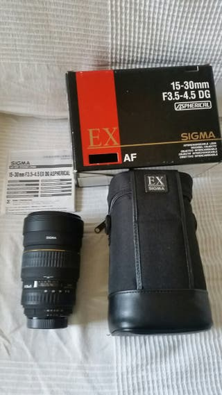 Objetivo zoom gran angular 15-30mm Sigma p/ Nikon