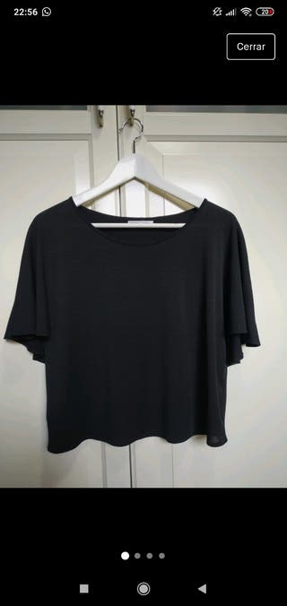 blusa negra de zara