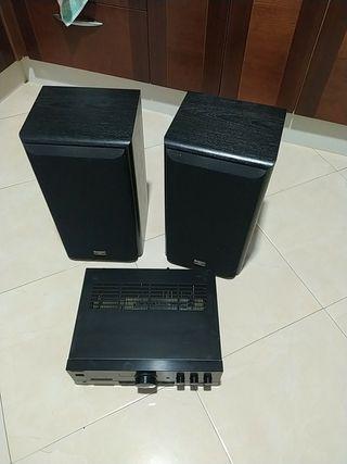 altavoces + amplificador