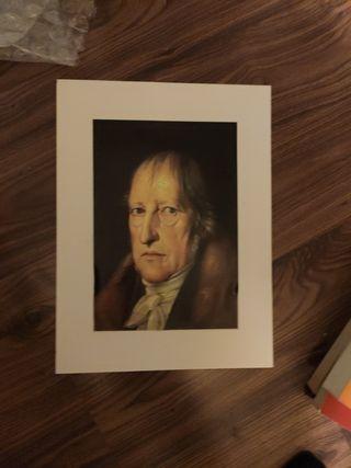 Cuadro Hegel, sin marco