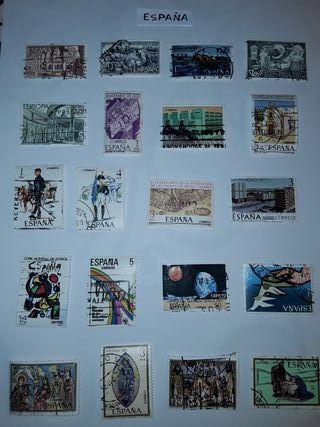 Lote de sellos de España matasellados