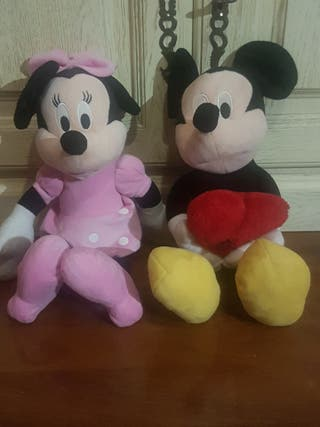 Peluches de Mikie y Minie Mouse