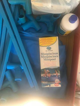 Piscina plástico azul