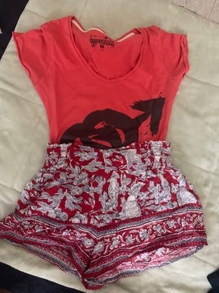Conjunto shorts y camiseta talla s/m