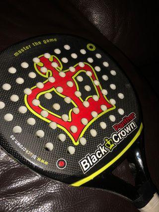 Pala de Padel Black Crown