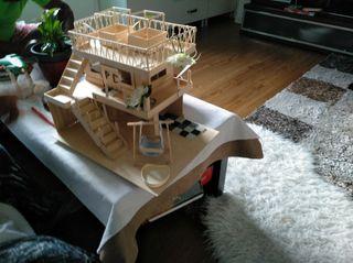 casa para muñecas o para hamster