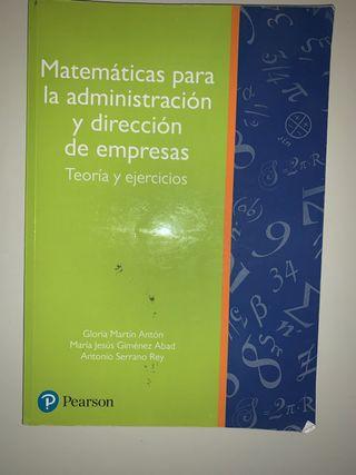 Libro de Matemáticas ADE - Pearson