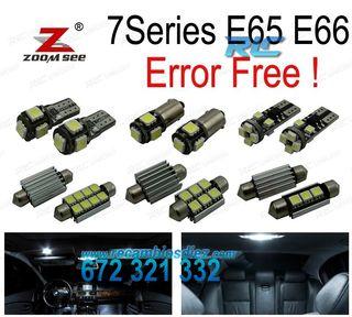 KIT 20 BOMBILLAS LED INTERIOR BMW 7 SERIE E65 E66