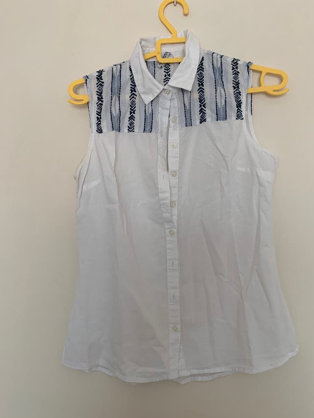 Lote camiseta y camisa estampada blanca Bershka