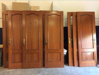 Lote 8 puertas piso madera sapelly