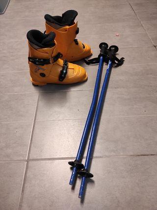 Botas niño esquí, preesqui y Bastones