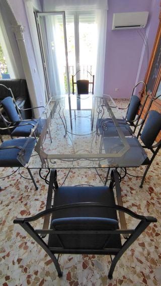 Conjunto mesa y sillas de forja